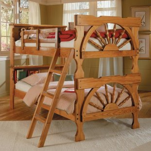 Wagon Wheel Bunkbeds