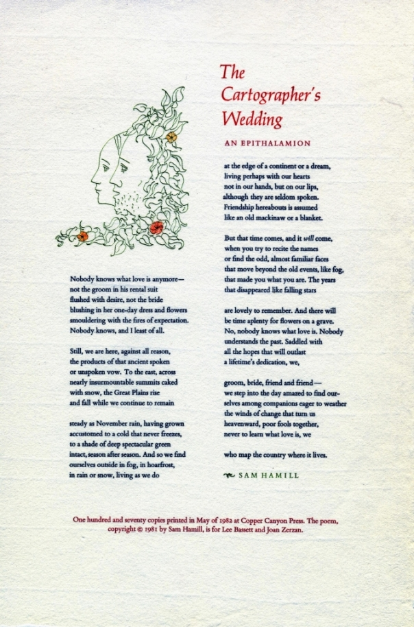 The Cartographer's Wedding by Sam Hamill_1981